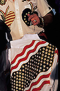 Image of patriotic clothing at the Santa Fe Rodeo, Santa Fe, New Mexico, American Southwest by Randy Wells