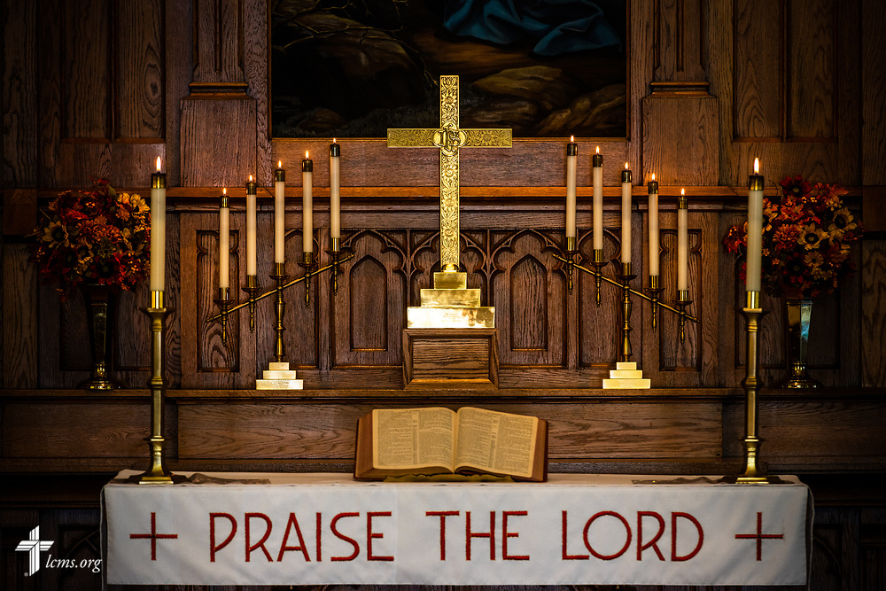 The altar at Gethsemane Lutheran Church on Tuesday, July 28, 2020, in St. Louis.  LCMS Communications/Erik M. Lunsford