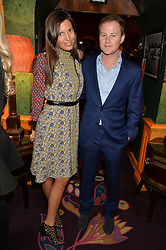 AMANDA SHEPPARD and GUY PELLY at the launch of GP Nutrition held at Annabel's, 44 Berkeley Square, London on 26th January 2016.