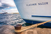 Large ship at dock, Zadar, Dalmatian Coast, Croatia