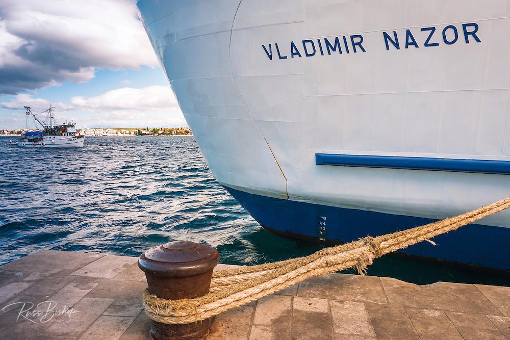 Large ship at dock, Zadar, Dalmatian Coast, Croatia