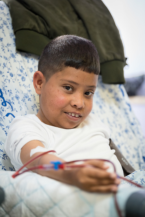 24 February 2020, Jerusalem: 16-year-old Hassan comes to the Augusta Victoria Hospital three times per week for Dialysis, a treatment he has been receiving for nine years. The procedure takes four hours each time.