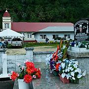 Cemetery near Pago Pago, Tutuila, American Samoa.
