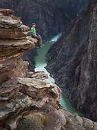 Larry Lindahl on Plateau Point, , Grand Canyon National Park, South Rim, Arizona
