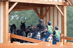 Ernesto Colman Mena, (URU), Checkmate, Jimmy, Ricky, Sam, Vizier - Driving Marathon - Alltech FEI World Equestrian Games™ 2014 - Normandy, France.<br /> © Hippo Foto Team - Jon Stroud<br /> 06/09/2014