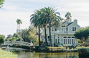 Venice Canal Historic District in Venice Los Angeles