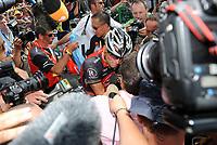 Sykkel<br /> Tour de France 2010<br /> 11.07.2010<br /> Foto: PhotoNews/Digitalsport<br /> NORWAY ONLY<br /> <br /> LANCE ARMSTRONG<br /> <br /> STAGE RIT ETAPE 8 : STATION DES ROUSSES - MORZINE AVORIAZ