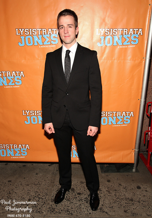 """NEW YORK, NY - DECEMBER 14:  Curtis Holbrook attends the """"Lysistrata Jones"""" Broadway opening night arrivals and curtain call at the Walter Kerr Theatre on December 14, 2011 in New York City.  (Photo by Paul Zimmerman/WireImage)"""