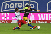 Fussball: Deutschland, 1. Bundesliga, Hamburger SV - BVB Borussia Dortmund, Hamburg, 20.11.2015<br /> <br /> Gotoku Sakai (HSV) - Marco Reus (BVB)<br /> <br /> © Torsten Helmke