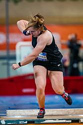 Jessica Schilder in action on the shot put during AA Drink Dutch Athletics Championship Indoor on 20 February 2021 in Apeldoorn.