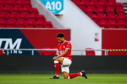 Zak Vyner of Bristol City takes a knee - Rogan/JMP - 24/09/2020 - Ashton Gate Stadium - Bristol, England - Bristol City v Aston Villa - Carabao Cup Third Round.