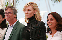 Director Todd Haynes and actress Cate Blanchett producer Elizabeth Karlsen at the photocall for the film Carol at the 68th Cannes Film Festival, Sunday May 17th 2015, Cannes, France.