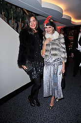 Left to right, AMANDA SHEPPARD and COUNTESS MAYA VON SCHOENBURG at Quintessentially's 10th birthday party held at The Savoy Hotel, London on 13th December 2010.