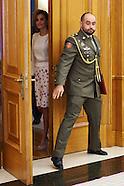 090315 Queen Letizia attends audiences at Zarzuela Palace