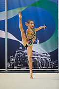 Nadja Righi from Gymnica 96 team during the Italian Rhythmic Gymnastics Championship in Padova, 25 November 2017.