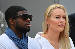 Lindsay Vonn and boyfriend Pernell Karl Subban during day 3 of the French Tennis Open at Roland-Garros arena on May 28, 2019 in Paris, France. Photo by Christian Liewig/ABACAPRESS.COM