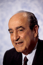 CONSTANTINE MITSOTAKIS (31 October 1918 - 29 May 2017) was a Greek politician who was Prime Minister of Greece from 1990 to 1993. PICTURED: December 3, 1992 - Edinburgh, Scotland, United Kingdom - Greek Prime Minister CONSTANTINE MITSOTAKIS speaks during a visit to the United Kingdom. (Credit Image: © Piers Cavendish/ZUMAPRESS.com)