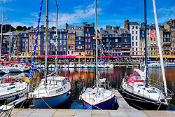 The harbour in Honfleur, Normandy, France