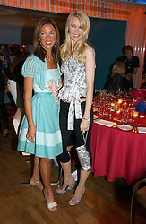 Left to right, HEATHER KERZNER and Model CLAUDIA SCHIFFER at a party hosted by Elizabeth Saltzman and Harvey Nichols to celebrate the UK launch of New York fashion designer Tory Burch held at the Fifth Floor Restaurant, Harvey Nichols, Knightsbridge, London on 24th May 2006.<br />