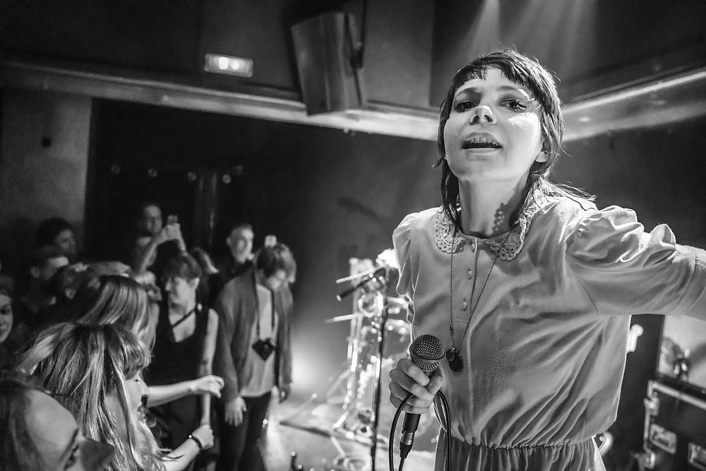 Andreya Casablanca of German pop-punk duo Gurr at Kulturclub schon schön in Mainz
