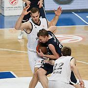 Anadolu Efes's Dusko SAVANOVIC (C) during their Turkish Airlines Euroleague Basketball Group C Game 6 match Anadolu Efes between Partizan at Sinan Erdem Arena in Istanbul, Turkey, Wednesday, November 23, 2011. Photo by TURKPIX