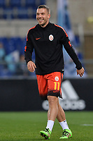 Lukas Podolski Galatasaray.<br /> Roma 25-02-2016 Stadio Olimpico, Football Calcio 2015/2016 Europa League. Lazio - Galatasaray. Foto Antonietta Baldassarre / Insidefoto