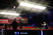 Stuart Bingham of England during his 1st round match against Chen Zhe. ManBetx Welsh Open Snooker 2018, day 1 at the Motorpoint Arena in Cardiff, South Wales on Monday 26th February 2018.<br /> pic by Andrew Orchard, Andrew Orchard sports photography.