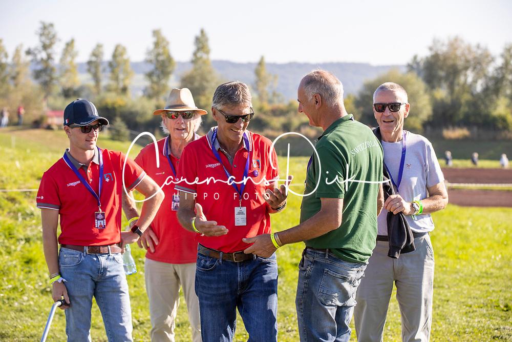Nicholson Andrew, Godel Robin, Funfschilling Jean Jacques, Scheller Heinz<br /> FEI EventingEuropean Championship <br /> Avenches 2021<br /> © Hippo Foto - Dirk Caremans<br />  24/09/2021