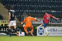 Cowdenbeath's Sean Higgins misses.<br /> Falkirk 1 v 0 Cowdenbeath, William Hill Scottish Cup game played 29/11/2014 at The Falkirk Stadium.