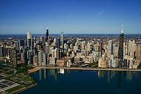 Chicago Skyline & Olive Park (left foreground)