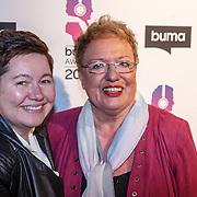 NLD/Hilversum/20160215 - Buma Awards 2016, Astrid Nijgh en partner Louise