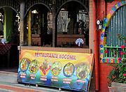 A pictorial menu outside a restaurant.  Panajachel, Republic of Guatemala. 04Mar14.