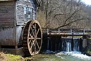 Historic Hyde's Mill, along Mill Creek, rural Iowa County, Wisconsin, USA.