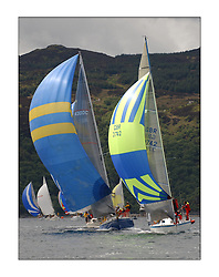 Yachting- The first days inshore racing  of the Bell Lawrie Scottish series 2003 at Tarbert Loch Fyne.  Light shifty winds dominated the racing...Swan 43 Reindeer with Hops of Class three...Pics Marc Turner / PFM