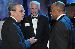 Yale President Richard C. Levin, Henry B. Schacht and Kurt Schmoke. Yale University Department of Athletics Blue Leadership Ball 2009. Folks at The Lanman Center before Presentation of Awards to Blue Leader Honorees and Speeches.