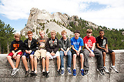 The Oregon Marching Band visits Mount Rushmore in KeyStone, South Dakota on July 17, 2011.