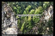 View of Marienbrücke Bridge From Neuschwanstien Castle<br /> Germany - May 2014