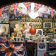 """Margaret Tyler sits amongst her collection of royal memorabilia in her home in north London, Britain, 26 March 2018.  Margaret Tyler, 74 styles herself as """"Britain's most loyalist Royalist"""". In her Wembley house she has collected thousands of items about Britain's Royal family. She began collecting 40 years ago and her collection has encompasses four rooms and a bedroom full of memorabilia. Dusting is a big part of her life: as as soon as she finishes she has to start over again.<br /> She says: """"It's a labour of love, looking after my collection. I don't go on holiday, I don't smoke, I don't drink. I spend all my time and money on my collection and I love it and I love sharing it with people.""""<br /> """"I like a lot about the royal family. I think her majesty is marvellous we have been so lucky.  She is the mother of the world because our royal family is the best in the world""""<br /> """"Meghan and Harry make a lovely couple, they're very much in love. They will be a breath of fresh air in the royal family. Meghan will be an amazing addition to the royal family - she is very good as a speaker. She has been brought up in Hollywood and knows her own mind. She's a sparkling girl and together they will practically rule the word!""""<br /> <br /> <br /> EPA-EFE/NEIL HALL"""