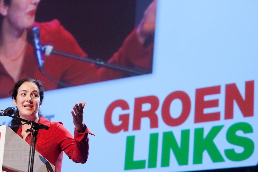 Femke Halsema wordt op de 28e partijcongres van GroenLinks in Vredenburg Leidsche Rijn in Utrecht opnieuw gekozen als lijsttrekker van de partij. Tijdens het congres zijn ook de andere namen op de lijst gekozen, waaronder Bert van Boggelen, voormalig interim voorzitter van de christelijke vakbond CNV.