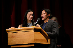 """Elizabeth Chai Vasarhelyi and Jimmy Chinof the Oscar® nominated docum entary feature """"Free Solo"""" during the Academy of Motion Picture Arts and Sciences' """"Oscar Week: Documentaries"""" event on Tuesday, February 19, 2019 at the Samuel Goldwyn Theater in Beverly Hills. The Oscars® will be presented on Sunday, February 24, 2019, at the Dolby Theatre® in Hollywood, CA and televised live by the ABC Television Network."""