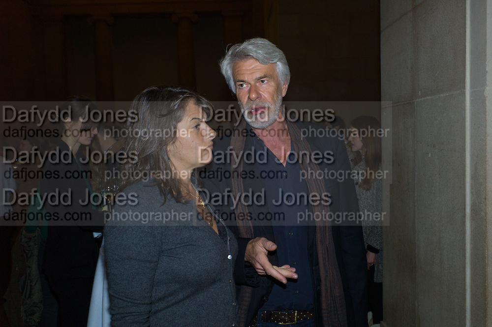 TRACEY EMIN; CHRIS DERCON, Opening for Nick Waplington's Alexander McQueen photography exhibition and Christina Mackie's Tate Britain Commission. Tate Britain. London. 23 March 2015
