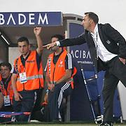 Besiktas's coach Carlos CARVALHAL (R) during their UEFA Europa League Play-Offs first leg match soccer match Besiktas between Alania Vladikavkaz at Inonu stadium in Istanbul Turkey on Thursday August 18, 2011. Photo by TURKPIX