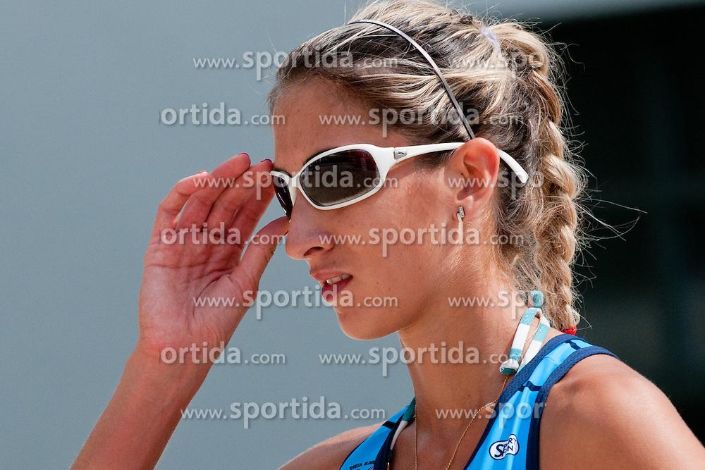Eva Zupan at Zavarovalnica Triglav Beach Volley Open as tournament for Slovenian national championship on July 29, 2011, in Kranj, Slovenia. (Photo by Matic Klansek Velej / Sportida)