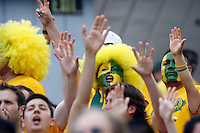 20 May 2007: Galaxy fans cheer with painted faces during a 1-1 tie for MLS Chivas USA vs. Los Angeles Galaxy pro soccer teams at the Home Depot Center in Carson, CA.