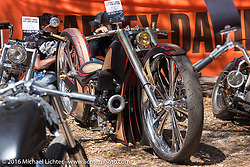 Great bikes on display at Harley Davidson's Editor's Choice Bike Show at the Broken Spoke Saloon during Daytona Bike Week 75th Anniversary event included this entry all the way from Kuwait. FL, USA. Wednesday March 9, 2016.  Photography ©2016 Michael Lichter.
