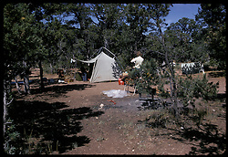 Campsite at Grand Canyon, South Rim. 7:45 MST, Nikon Ftn Camera, 125th f/8 35mm f/2 lens, Kodachrome II