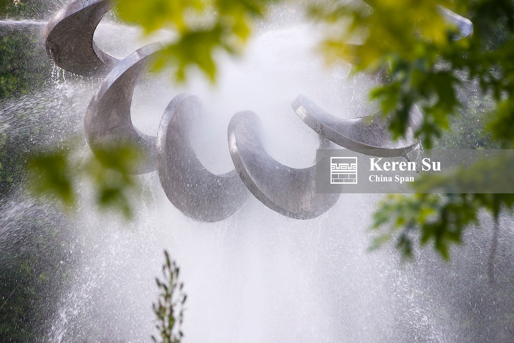 Sculpture with fountain, Plovdiv, Bulgaria