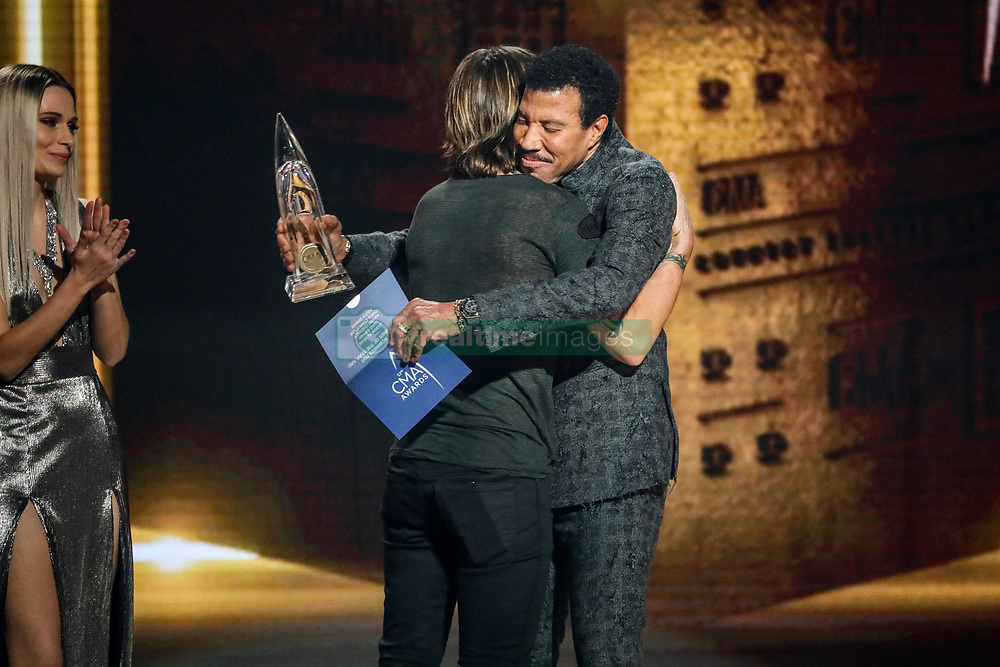 52nd Annual Country Music Association Awards hosted by Carrie Underwood and Brad Paisley and held at the Bridgestone Arena on November 14, 2018, in Nashville, TN. © Curtis Hilbun / AFF-USA.com. 14 Nov 2018 Pictured: Lionel Richie and Keith Urban. Photo credit: Curtis Hilbun / AFF-USA.com / MEGA TheMegaAgency.com +1 888 505 6342