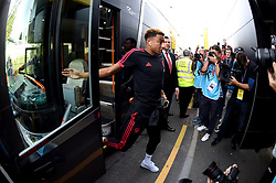 Manchester United's Jesse Lingard arrives at the Stadium prior to the beginning of the match