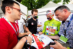 Tadej POGACAR of UAE TEAM EMIRATES with fans after the 5th Stage of 27th Tour of Slovenia 2021 cycling race between Ljubljana and Novo mesto (175,3 km), on June 13, 2021 in Slovenia. Photo by Vid Ponikvar / Sportida